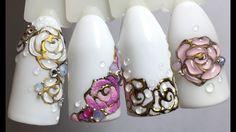 Бархатные розы. Литье. Рисунки на ногтях