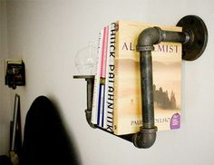 industrial chic bookshelf