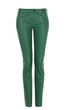 Escada - Smaragdgrüne Lederhose Diana, Places, How To Wear, Style, Fashion, Fall Winter, Dressing Up, Trousers, Leather