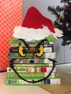 You're a mean one...Grinch book art at Oak Ridges Moraine Library
