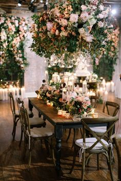 photo by Lauren Scotti Dreaming of a cozy wedding reception but lacking the inspiration to make it a reality? Wedding Flower Arrangements, Wedding Table Centerpieces, Flower Centerpieces, Wedding Decorations, Centerpiece Ideas, Table Wedding, Reception Table, Wedding Receptions, Floral Arrangements
