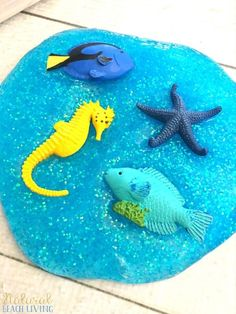 Best Ocean Theme Recipe for Slime Ocean Slime Recipes Jiggly Slime Under the Sea Theme Activities How to Make Slime Perfect Glittery Slime Recipe for Kids Ocean Activities slimerecipe slime(3)