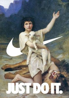 Classical Paintings Meet Nike's Famous 'Swoosh' Logo - DesignTAXI.com