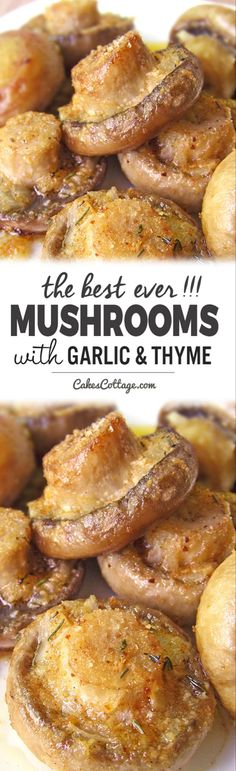 Roasted Mushrooms with Garlic & Thyme is part of Stuffed mushrooms - Roasted mushrooms with garlic & thyme A great side dish no matter what you're serving Vegetable Side Dishes, Vegetable Recipes, Vegetarian Recipes, Cooking Recipes, Healthy Recipes, Cooking Pork, Cooking Games, Stuffed Mushrooms, Roasted Mushrooms