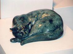 """Sleeping Tom"" - Bronze sculpture by David MacKay-Harrison"