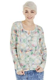 F&F Photographic Floral Print Cardigan
