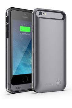 Black Extended Battery Case for iPhone 6 by Mota on @HauteLook