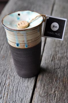 Locally (Vancouver) made ceramic travel mug by gorgeous Nancy