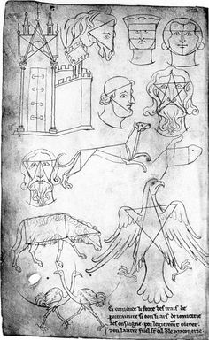 Sketchbook of Villard de Honnecourt: how a medieval architect kept a jourrnal of things he saw on his travels Drawing Practice, Figure Drawing, Line Drawing, History Of Drawing, Art History, Gothic Pattern, Romanesque Art, Art Roman, Gothic Art