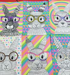 Fun Easter Bunny Craft Template Teaching Tools – Teach Starter # Craft # Easter Bunny # templates - All About Easter Bunny Template, Bunny Templates, Op Art Lessons, Art Lessons Elementary, Easter Art, Easter Crafts For Kids, Kids Diy, Easter Eggs, Easter Projects