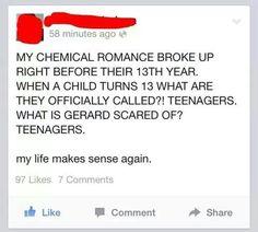My chemical romance makes sense though