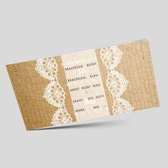 Vintage Hochzeitseinladung - Einladungskarten zur Hochzeit mit Spitze. Vintage, Bunting Bag, Paper, Modern Typography, Invites Wedding, Fiction, Card Wedding, Lace, Vintage Comics