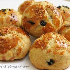 Zeytinli, cevizli tuzlu kurabiye