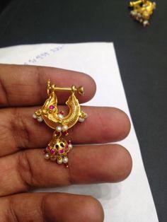 8gms Pandora Jewelry, Pearl Jewelry, Indian Jewelry, Gold Jewelry, Jewelery, Gold Earrings Designs, Gold Jewellery Design, Necklace Designs, Ear Rings