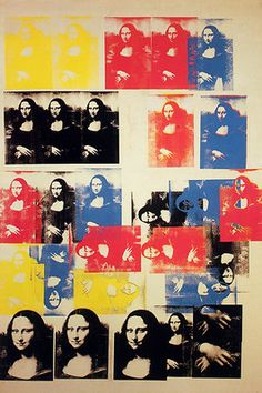 """Mona Lisa"" - Andy Warhol - 1963Fosterginger.Pinterest.ComMore Pins Like This One At FOSTERGINGER @ PINTEREST No Pin Limitsでこのようなピンがいっぱいになるピンの限界"