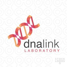 Logo for sale: Clean, modern geometrical logo design of an abstract DNA strand composed of various geometrical abstract shapes.