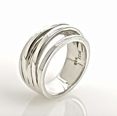 Waterfall Silver Ring - hardtofind.
