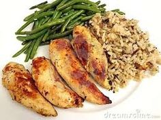Healthy Dinner Ideas. Chicken with green beans and wild rice. So perfect and pretty healthy. Follow me ----> www.youravon.com/kdevincentis