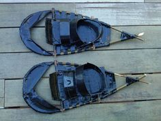 Duct tape snow shoes! I see some of these in a fun color coming in handy for taking two little girls on a winter yurt trip!