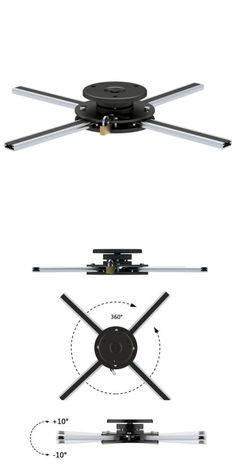 Projector Mounts and Stands: New Pyle Prjcm12lk Universal Anti-Theft Projector Ceiling Mount W Rotation-Tilt -> BUY IT NOW ONLY: $42.05 on eBay!