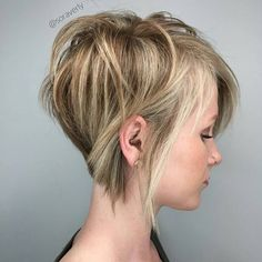 Mind-Blowing Short Hairstyles for Fine Hair Brown Blonde Pixie Bob For Thin HairBrown Blonde Pixie Bob For Thin Hair Short Layered Haircuts, Haircuts For Fine Hair, Hairstyles Haircuts, Pixie Haircuts, Layered Hairstyles, Black Hairstyles, Stylish Hairstyles, Short Cuts, Medium Hairstyles