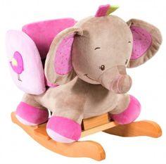 Balancín de peluche y madera elefante Charlotte & Rose de Nattou - Balancines Y Peluches de Nattou - Mundo Kiriko