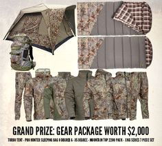 King's Camo Sweepstakes Win A Grand Prize Of A Turbo Tent, Pro Hunter 0 and -35 Sleeping Bags, Full XKG Series 7 Piece Camo Set, Mountain Top 2200 Backpack OR A 2nd Place: Pro Hunter 0 Degree Sleeping Bag OR A 3rd Place: Core Hunter 1800 Daypack OR A 4th Place: Daylite Waist Pack OR A 5th Place: Classic Camo Bundle http://virl.io/DToCkOk 1X 12/31