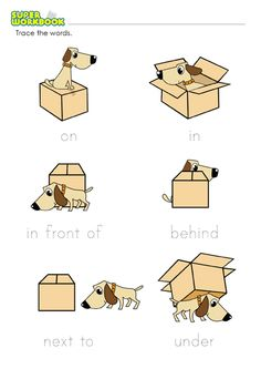Prepositions Of Place Worksheet: Printable Preposition Worksheets,Math