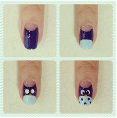 Owl Nail Designs | Owl nail design | Nails