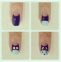 Owl Nail Designs | Owl nail design | Nails