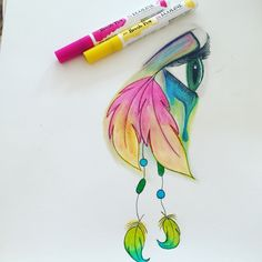 Beautiful eye Ecoline brush marker Brush Pen Art, Brush Markers, Ux Design, Art Techniques, Beautiful Eyes, Zentangle, Drawing Ideas, Art Ideas, Projects To Try