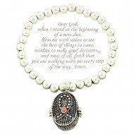Inspirational Silver Prayer Stretch Bracelet. Ribbon Detail. Includes Bookmark. LAN001 http://www.amazon.com/dp/B00KFLAMKW/ref=cm_sw_r_pi_dp_gE3xwb1DHB7DN