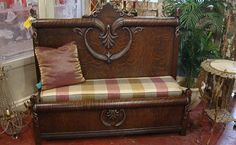 Bench made from an Antique Headboard and Footboard