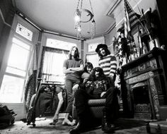 The Grateful Dead photographed at their Haight Ashbury home