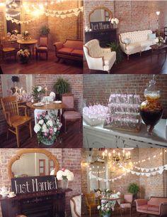 Wedding reception at Blissfully Vintage Event & Venue Rentals