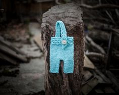 Blue Ciel Newborn Suspender Pants/ Baby Knit by GabriCollection