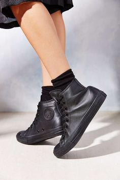 all black leather converse urban outfitters