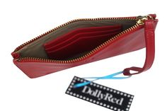 DollyRed Harriet purse in red leather.