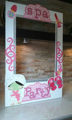 Spa Slumber Photo Booth Frame by mariscraftingparty on Etsy