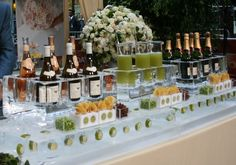 iced champagne bar/ peter callahan catering