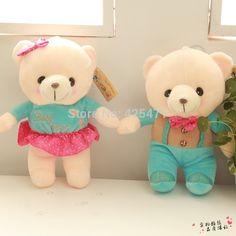 Louco Genie 25 cm / 9.8 polegada casal casamento urso de pelúcia boneca de brinquedo de pelúcia linda brinquedos de natal decoração do carro(China (Mainland))