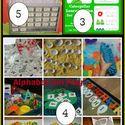 Montessori Monday - Patriotic Golf Tee Practical Life and Math Activity