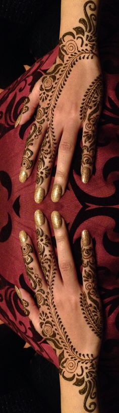 Sweet and simple henna done by me