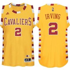 Cleveland Cavaliers #2 Kyrie Irving Hardwood Classic Throwback Jersey Gold