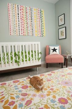 A Colorful Nursery Guest Room Combo
