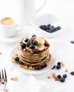 Blueberry Vanilla Muesli Pancakes made with MyMuesli Noats Porridge make a super delicious and healthy Breakfast.
