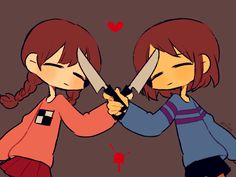 OM's - Ahh! knife! The great communicator! Undertale and yume Nikki
