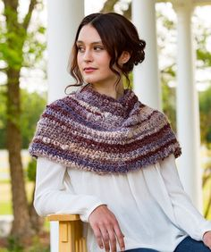Spiced Up Shoulder Cozy: FREE easy level crochet pattern