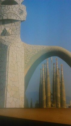 Casa Milá. Barcelona. I've stood here on this roof. Under the other archive you can see the church on the top of Mt  Tibidabo.