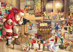 Paper - Printable - Christmas - Santa's workshop